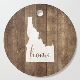 Idaho is Home - White on Wood Cutting Board