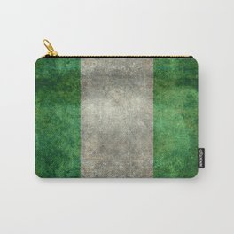 National flag of Nigeria, Vintage textured version Carry-All Pouch