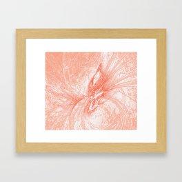 Splatter in Guava Framed Art Print