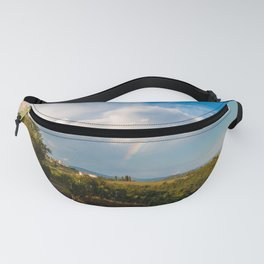 Sunset in the vineyards of Rosazzo after the storm Fanny Pack