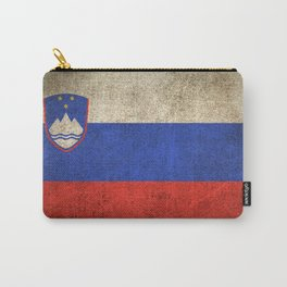 Old and Worn Distressed Vintage Flag of Slovenia Carry-All Pouch