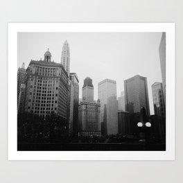 Chicago Riverwalk B&W Art Print