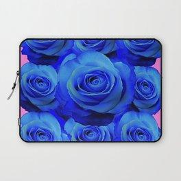 BLUE ROSE GARDEN & PINK PATTERN ART Laptop Sleeve