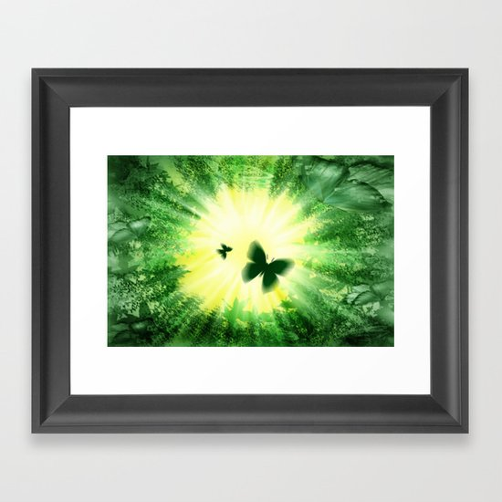 "The sun and the ""Butterfly - Effect""! Framed Art Print"