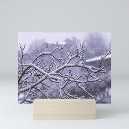 Snowy branches Mini Art Print