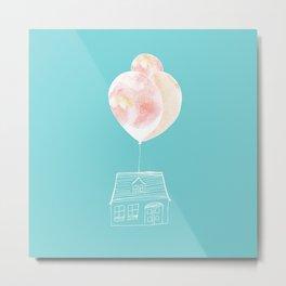 Balloon House Metal Print