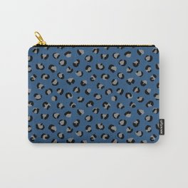 Leopard winter panther animal print trend Classic Blue color of the year Carry-All Pouch