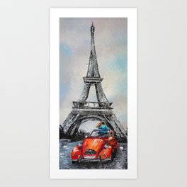 DATE IN PARIS Art Print
