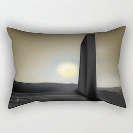 Martian Ancient Alien Artifact Rectangular Pillow