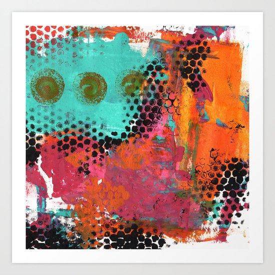 Original abstract painted artwork Art Print