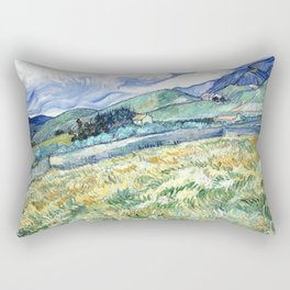 Vincent Van Gogh - Landscape from Saint Remy Rectangular Pillow