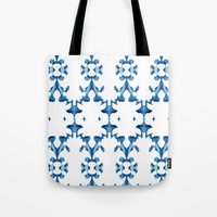ikat Tote Bags featuring Ikat by Lauren Heslop