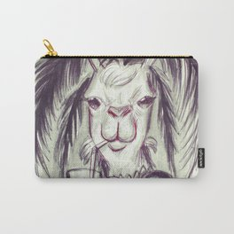Palm Tree Llama Carry-All Pouch
