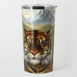 Jungle Tiger Landscape Travel Mug