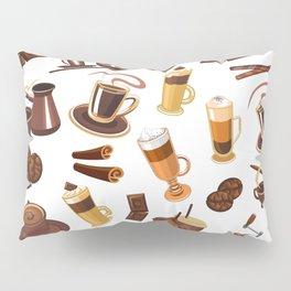 Coffee Lover Latte Espresso French Press Design Pillow Sham
