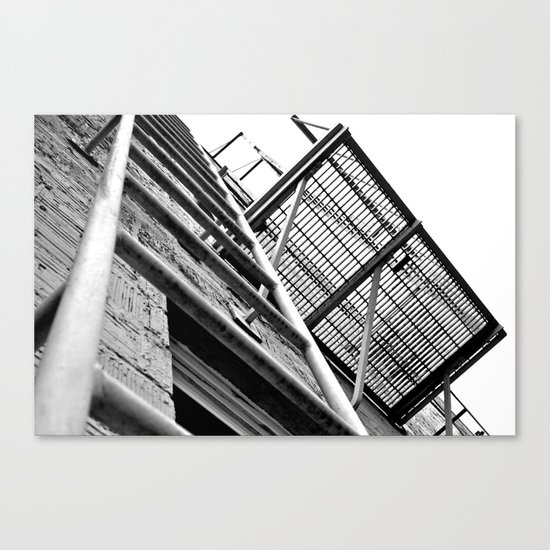 Alley balcony Canvas Print
