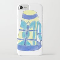backpack iPhone & iPod Cases featuring A backpack yellow by Atelier Pora