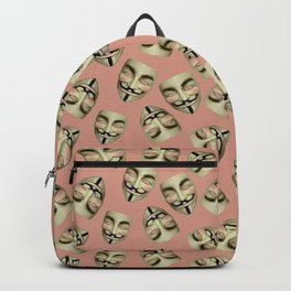 Guy Fawkes Masks on Coral Backpack