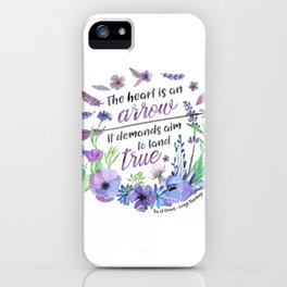 The heart is an arrow iPhone Case
