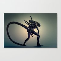 xenomorph Canvas Prints featuring The Xenomorph by Monster Brand