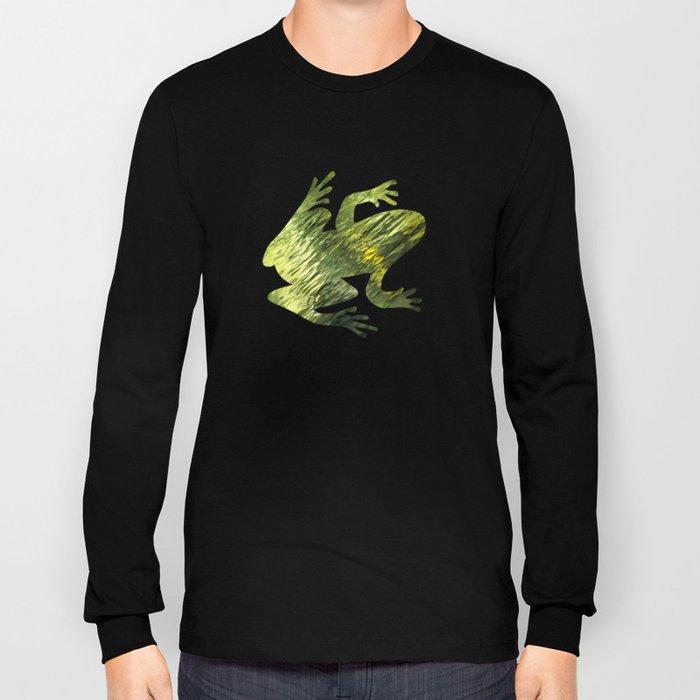 Green Water Abstract Art Long Sleeve T-shirt