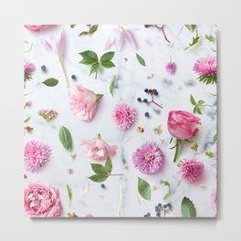 Pink Flower Layout Metal Print