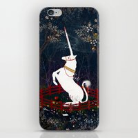 unicorn iPhone & iPod Skins featuring Unicorn by Danse de Lune