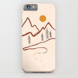 Mountain Minimal iPhone Case
