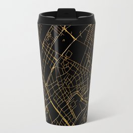 Black and gold Copenhagen map Travel Mug