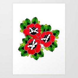 Traditional Roses  Art Print