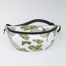 Dogwood Pedals on White Fanny Pack