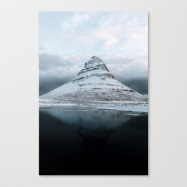 Kirkjufell Mountain in Iceland - Landscape Photography Canvas Print