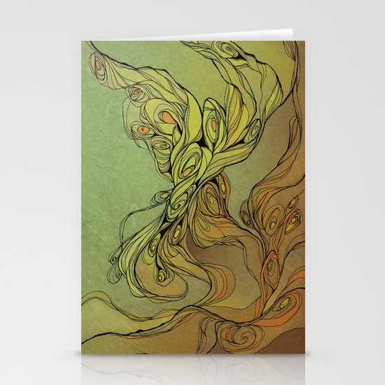 abstract floral composition Stationery Cards