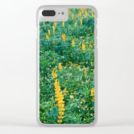 Field of lupins in bloom Clear iPhone Case