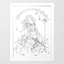 Spring Clean for the May Queen Art Print