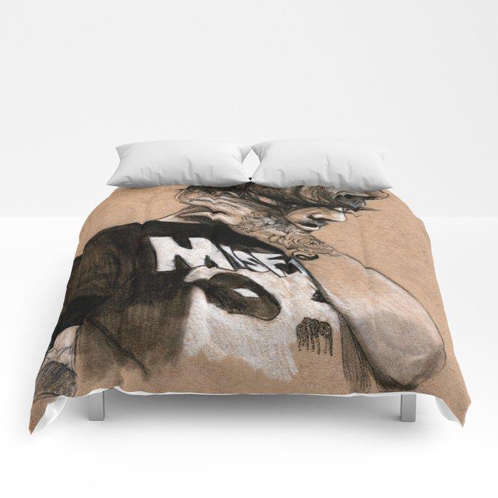 Zayn Charcoal sketch Comforters