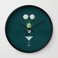 the great gatsby Wall Clocks featuring The Great Gatsby by Christian Jackson
