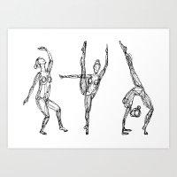 Bailarinas Art Print