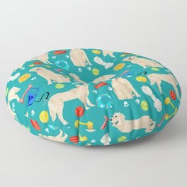 Golden Retriever pet friendly dog breeds dog toys cute dog gifts for dog lovers Floor Pillow