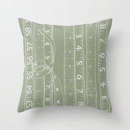 Fashion Measuring Tape - Sage Throw Pillow