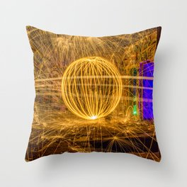 RUINED - Light Painting Throw Pillow