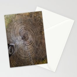 Tree Rings rustic decor Stationery Cards