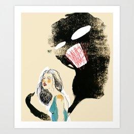 Stop talking yourself down. Art Print