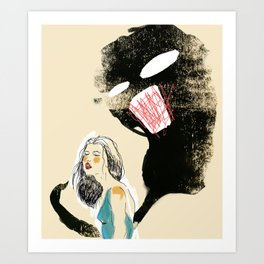 Stop talking yourself down. Art Print