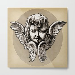Face of an Angel Larger Pattern Metal Print