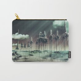 -Caravan Dali- GREEN Carry-All Pouch
