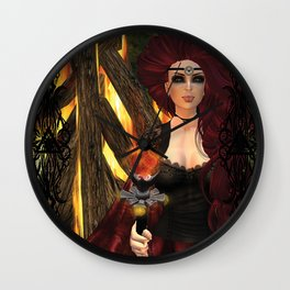 Ogina's Pyre Wall Clock
