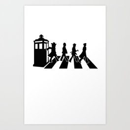 Abbey road - doctor who Art Print