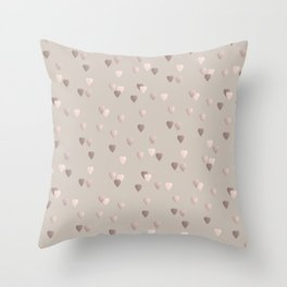 Elegant rose gold heart pattern Throw Pillow