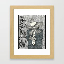 United States of the Upside Down Framed Art Print